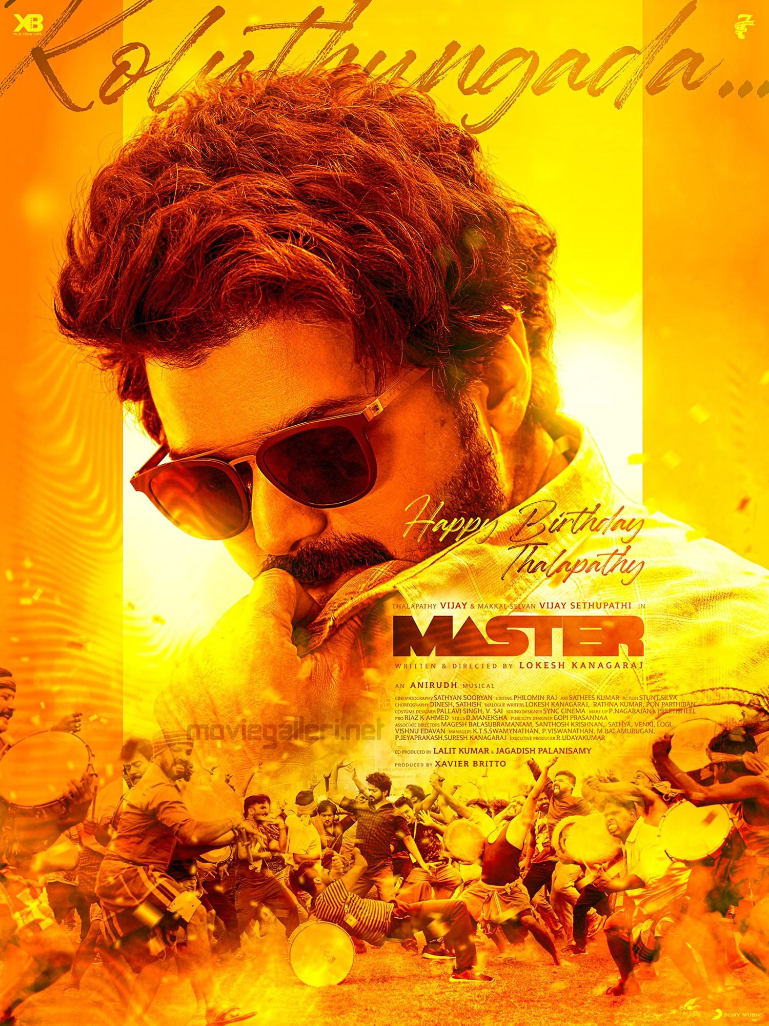 Master Vijay Birthday Poster HD