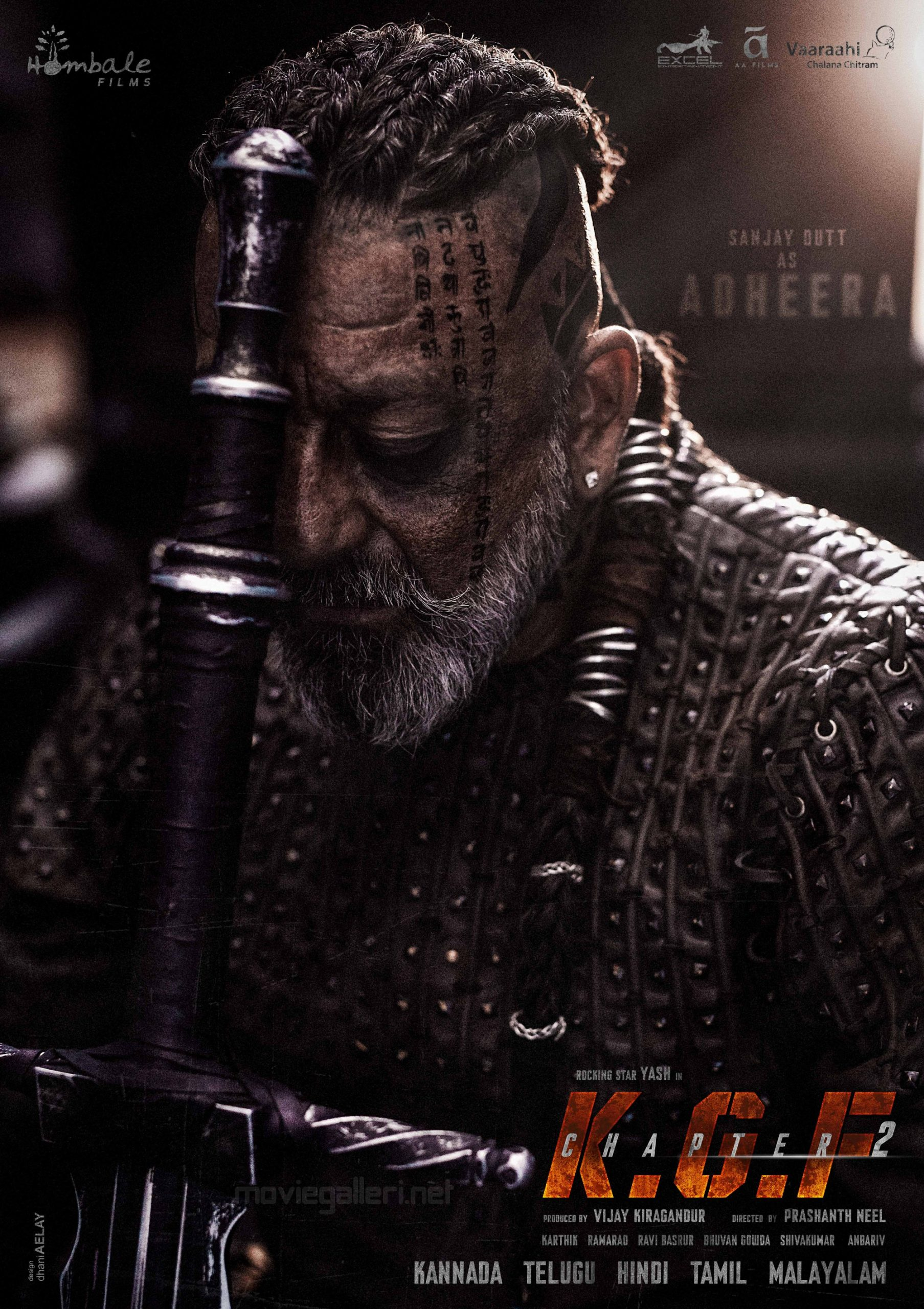 Actor Sanjay Dutt as Adheera KGF Chapter 2 Movie First Look Poster HD