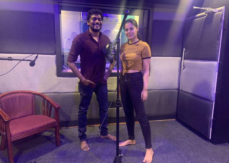 Ranjit Jeyakodi & Bindu Madhavi @ Yaarukkum Anjael Dubbing