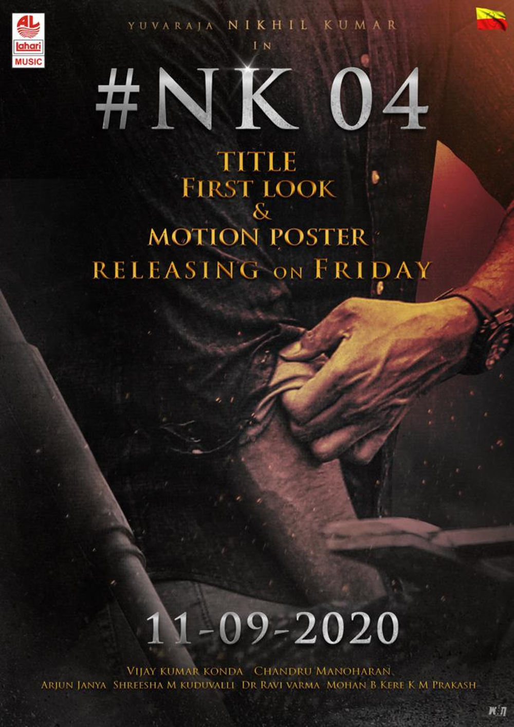 Nikhil Kumar, Vijay Kumar Konda Film Title And First Look Releasing On Sep 11th