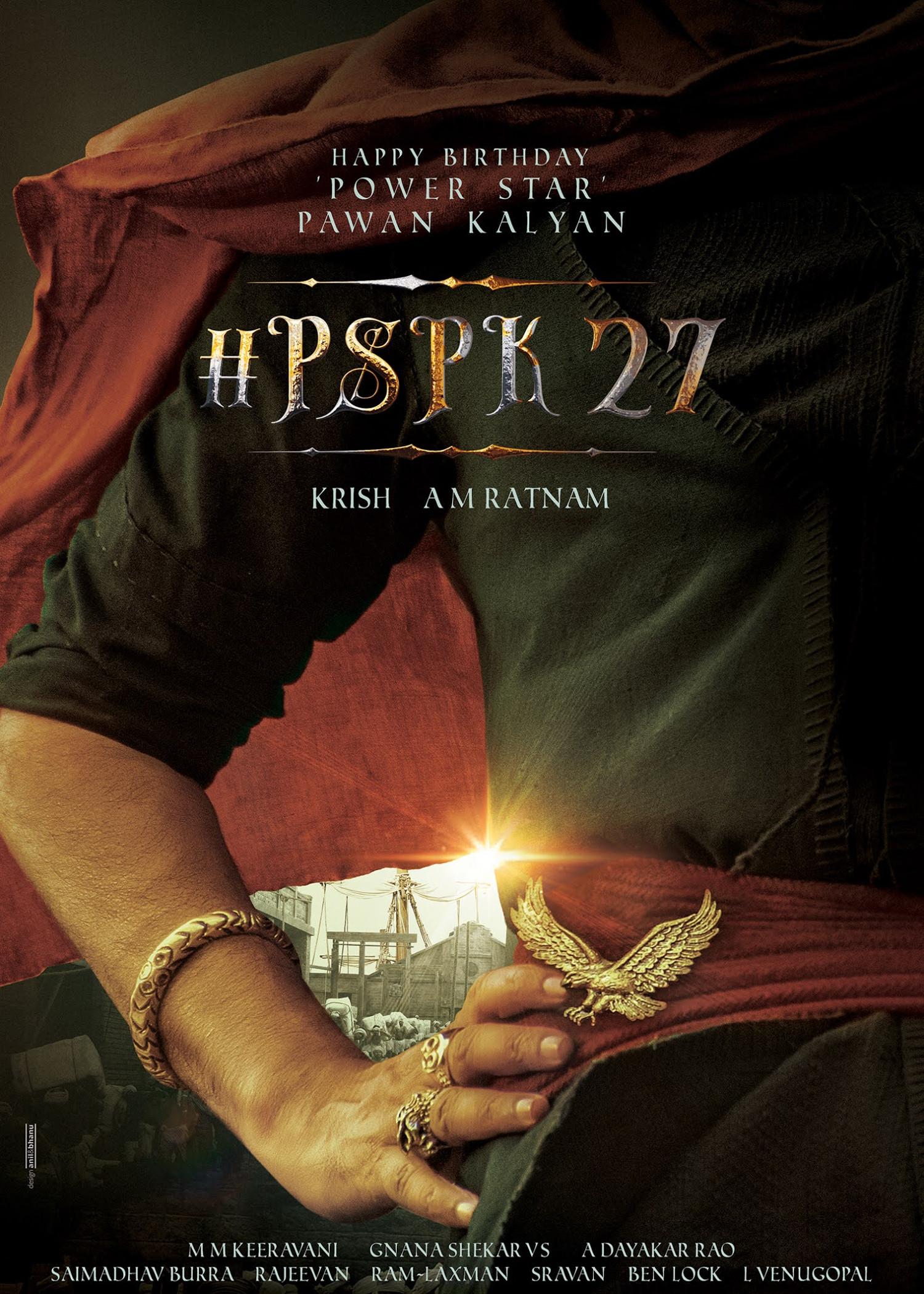 Pawan Kalyan PSPK27 Pre Look Birthday Poster HD
