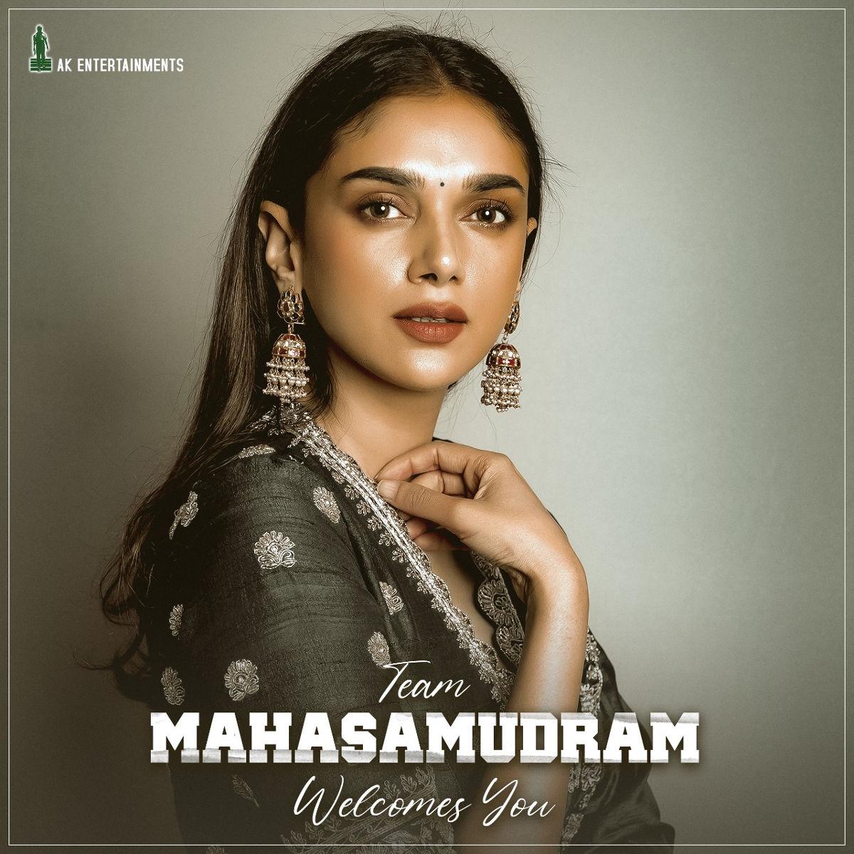 Actress Aditi Rao Hydari To Play Female Lead In Maha Samudram Movie