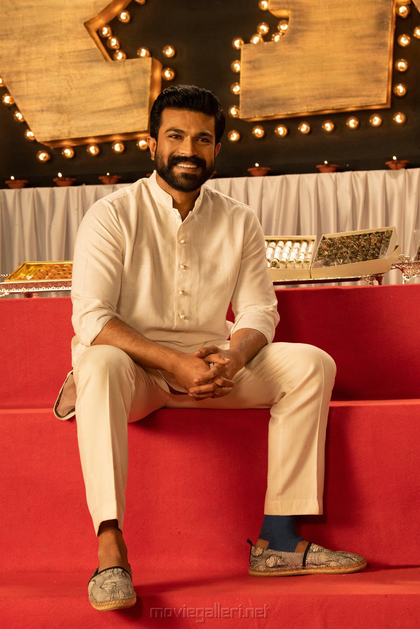 Actor Ram Charan in RRR Movie Diwali Special Images