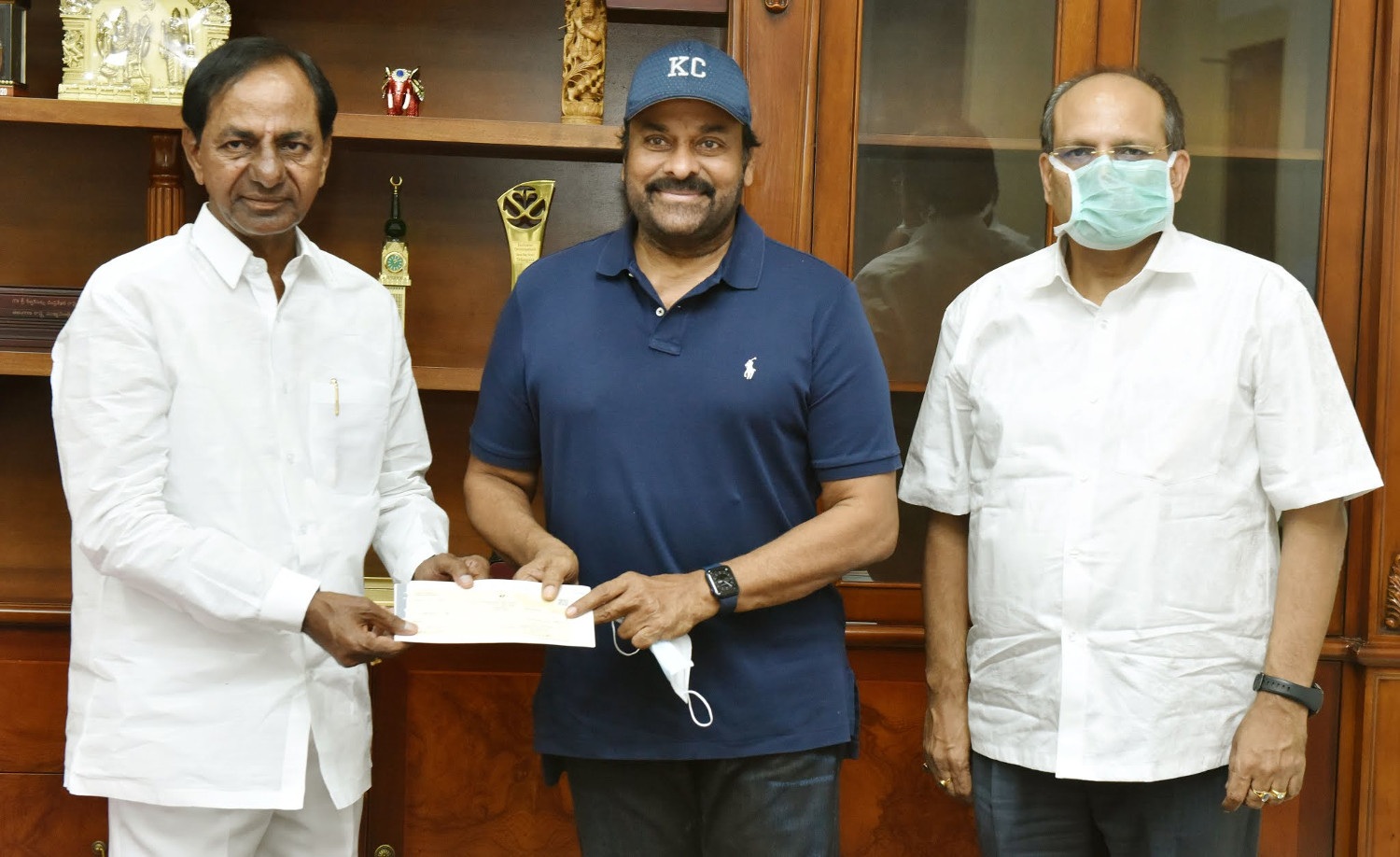 Chiranjeevi CM KCR has Announced Film City would be set up on the Outskirts of Hyderabad