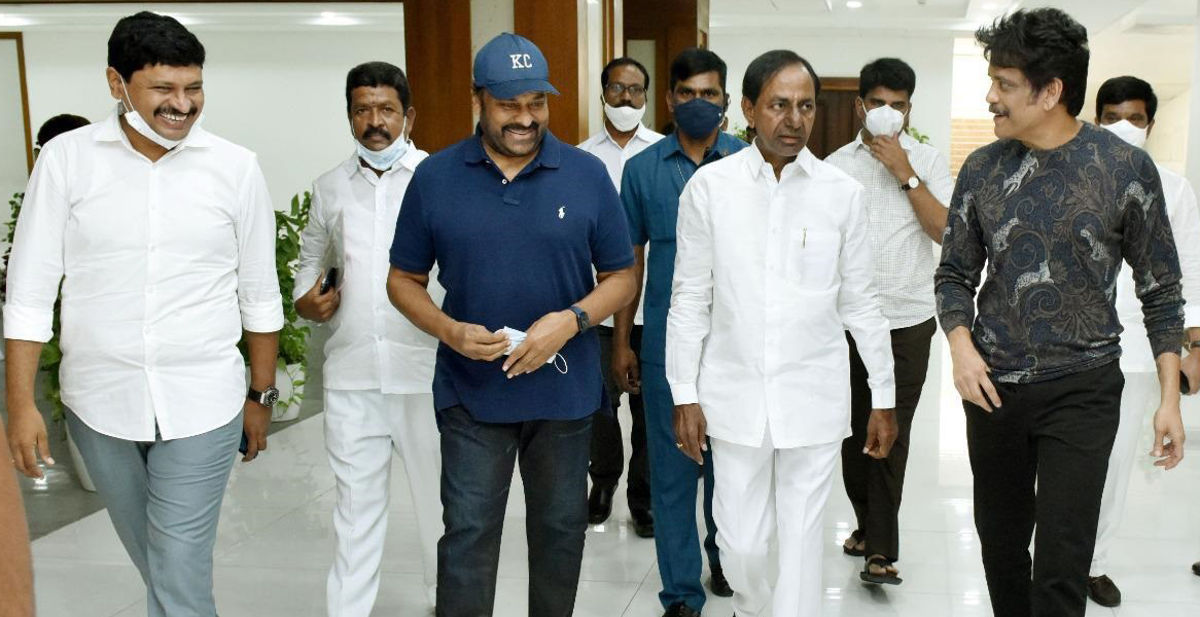 Chiranjeevi Nagarjuna CM KCR has Announced that a Film City would be set up on the Outskirts of Hyderabad