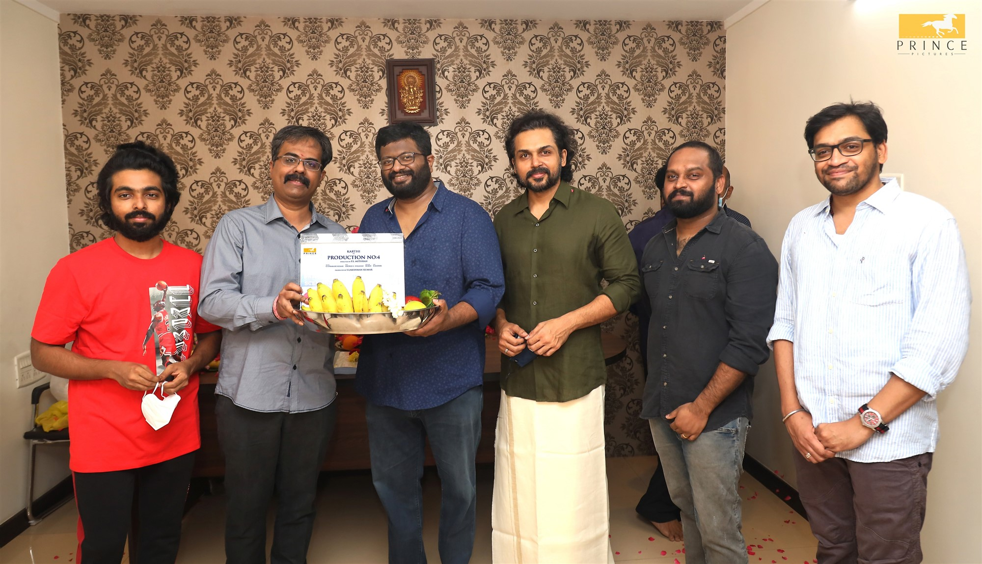 Karthi-P.S.Mithran film commences on Deepavali with auspicious Pooja and song recording