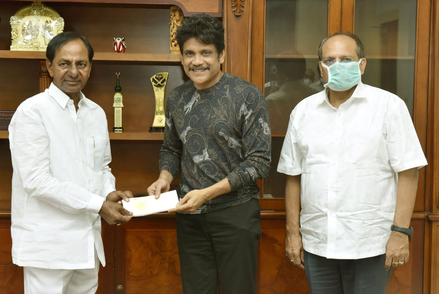 Nagarjuna CM KCR has Announced that a Film City would be set up on the Outskirts of Hyderabad