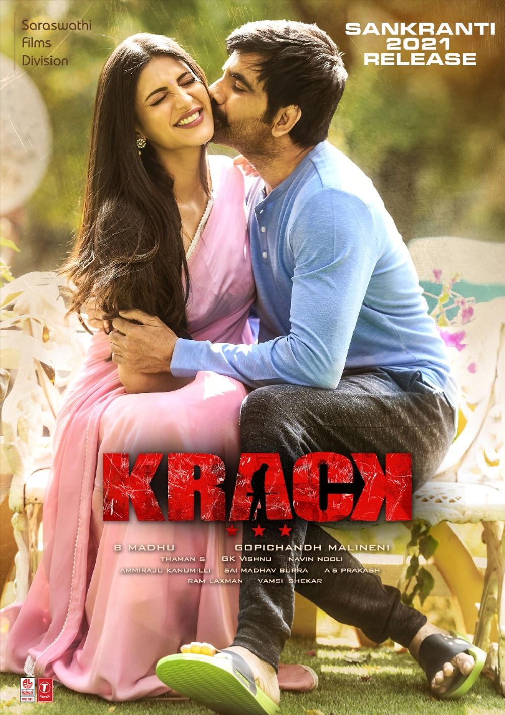 Ravi Teja, Shruti Haasan Krack Release on Sankranthi