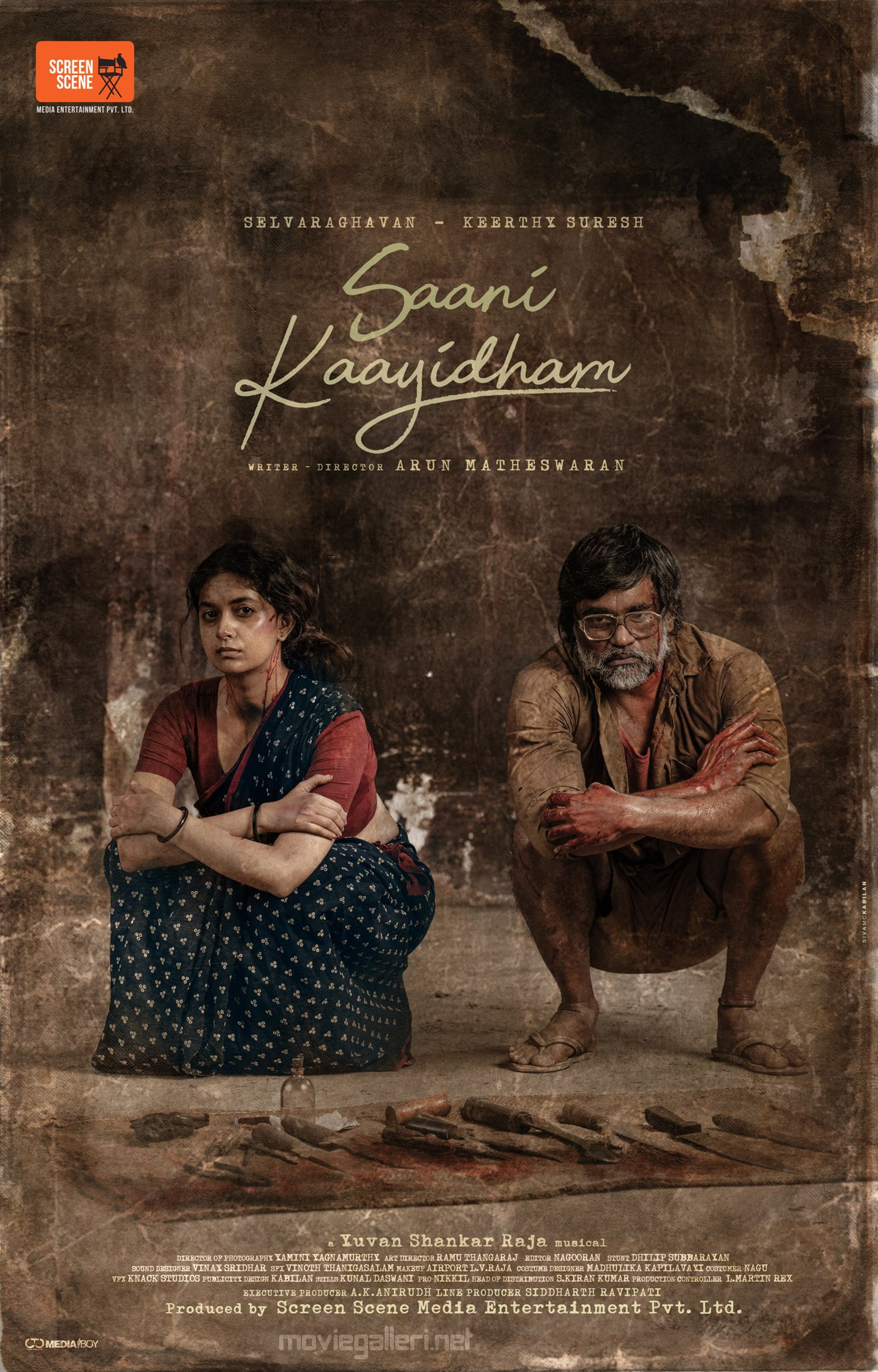 Selvaraghavan Keerthy Suresh Saani Kaayidham Movie First Look Poster HD