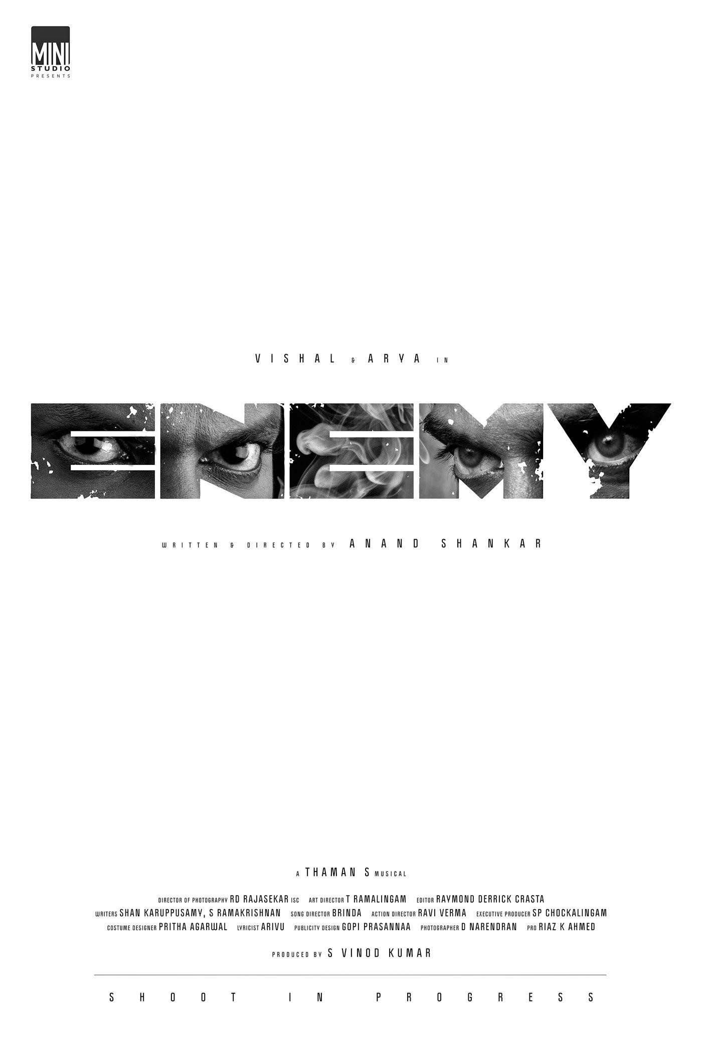 Vishal Arya Enemy Movie First Look Poster HD