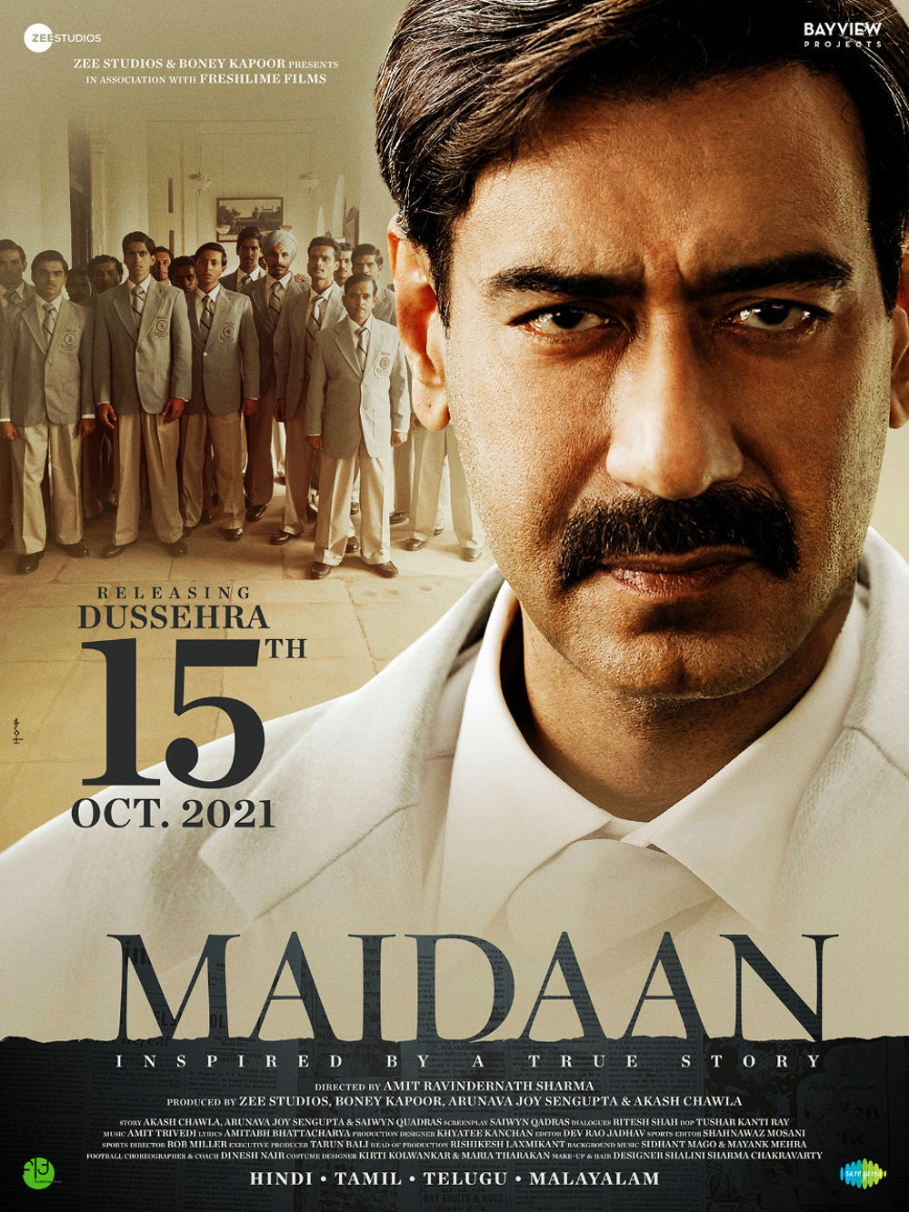 Actor Ajay Devgan Maidaan Movie Release on 15th October 2021 as Dussehra Gift