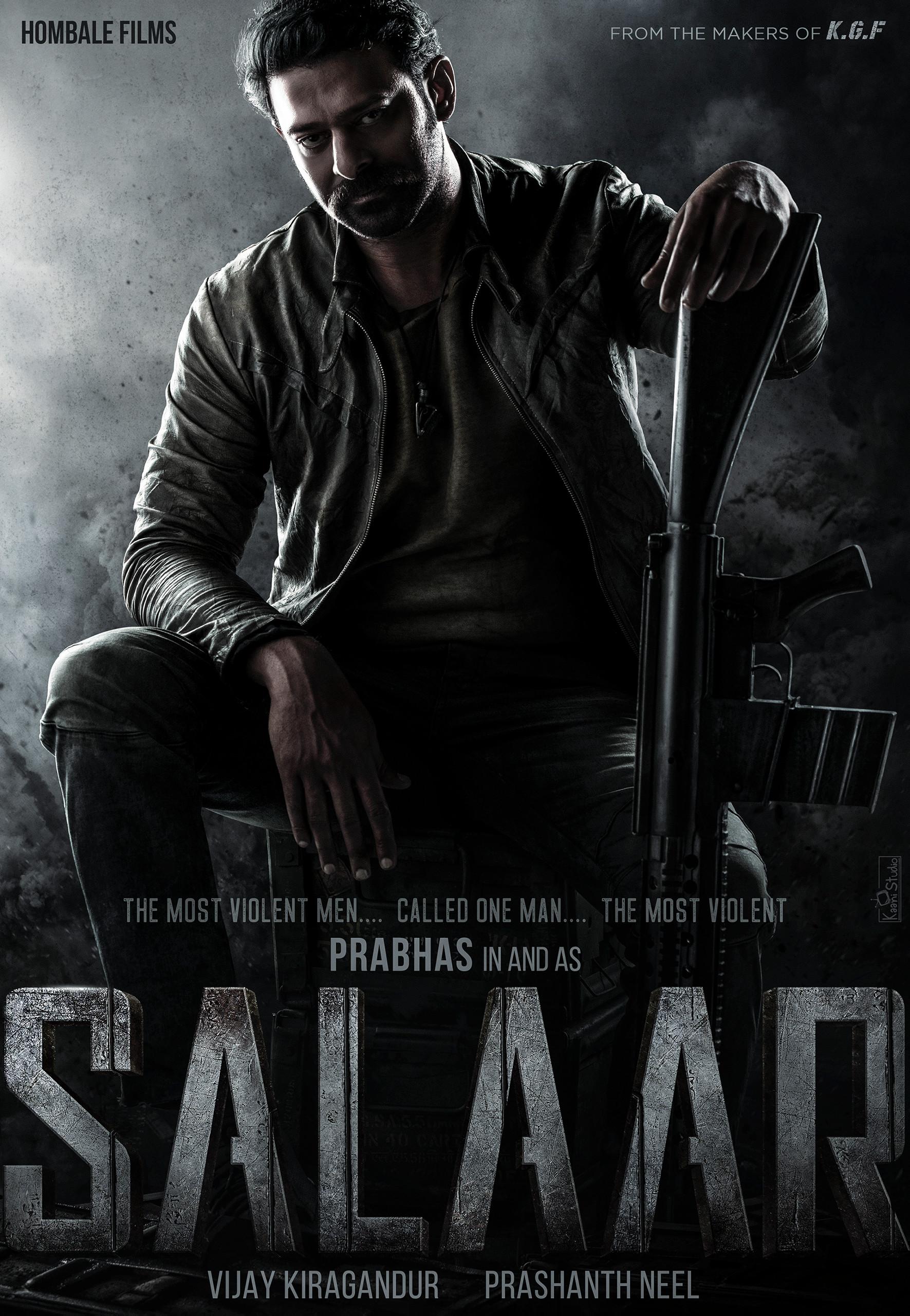 Actor Prabhas SALAAR Movie First Look Poster HD