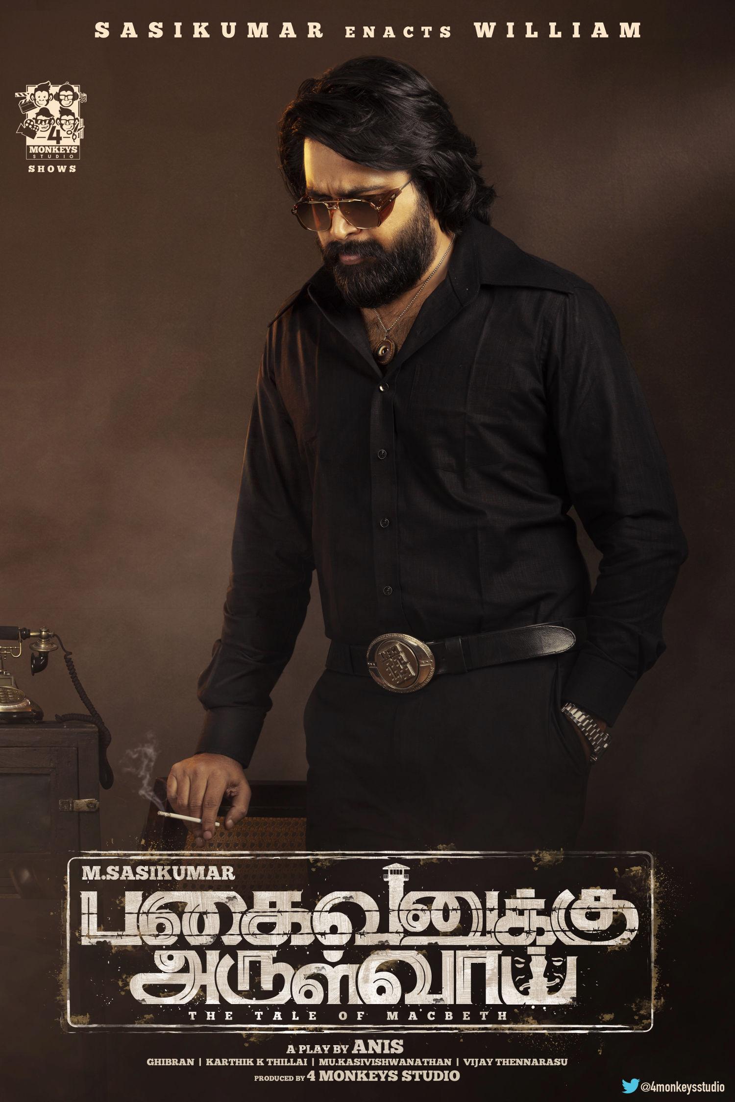 Actor Sasikumar Pagaivanuku Arulvai Movie First Look Poster HD