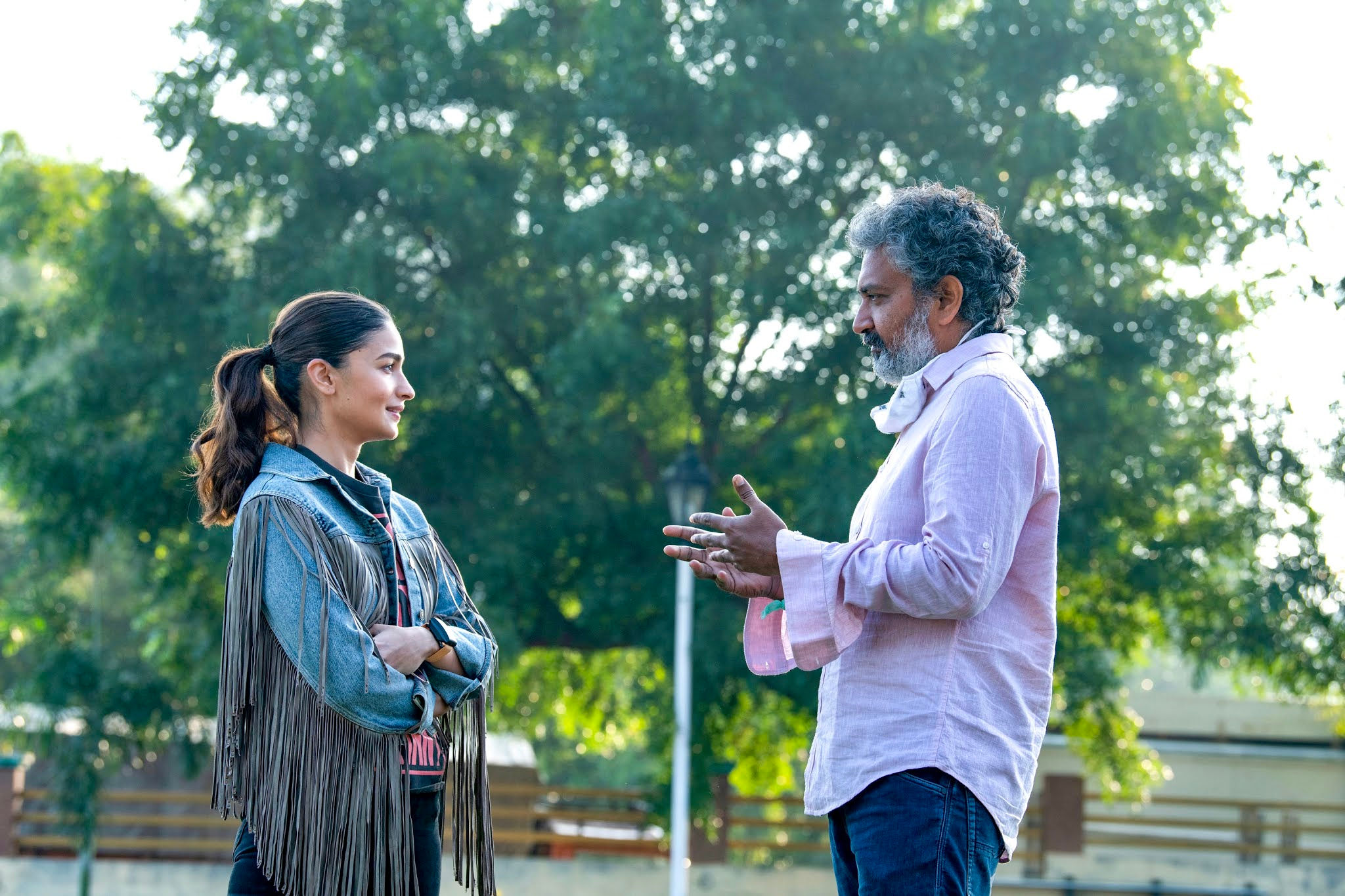 Actress Alia Bhatt joins RRR Movie Shoot with Director SS Rajamouli