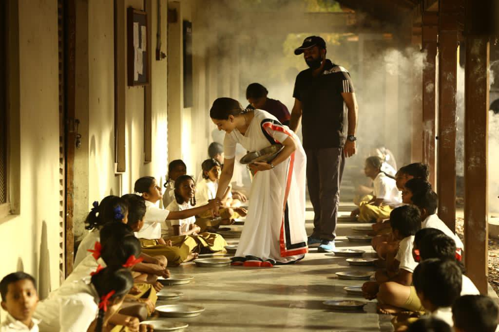 Actress Kangana Ranaut & Director AL Vijay @ Thalaivi Movie Working Stills