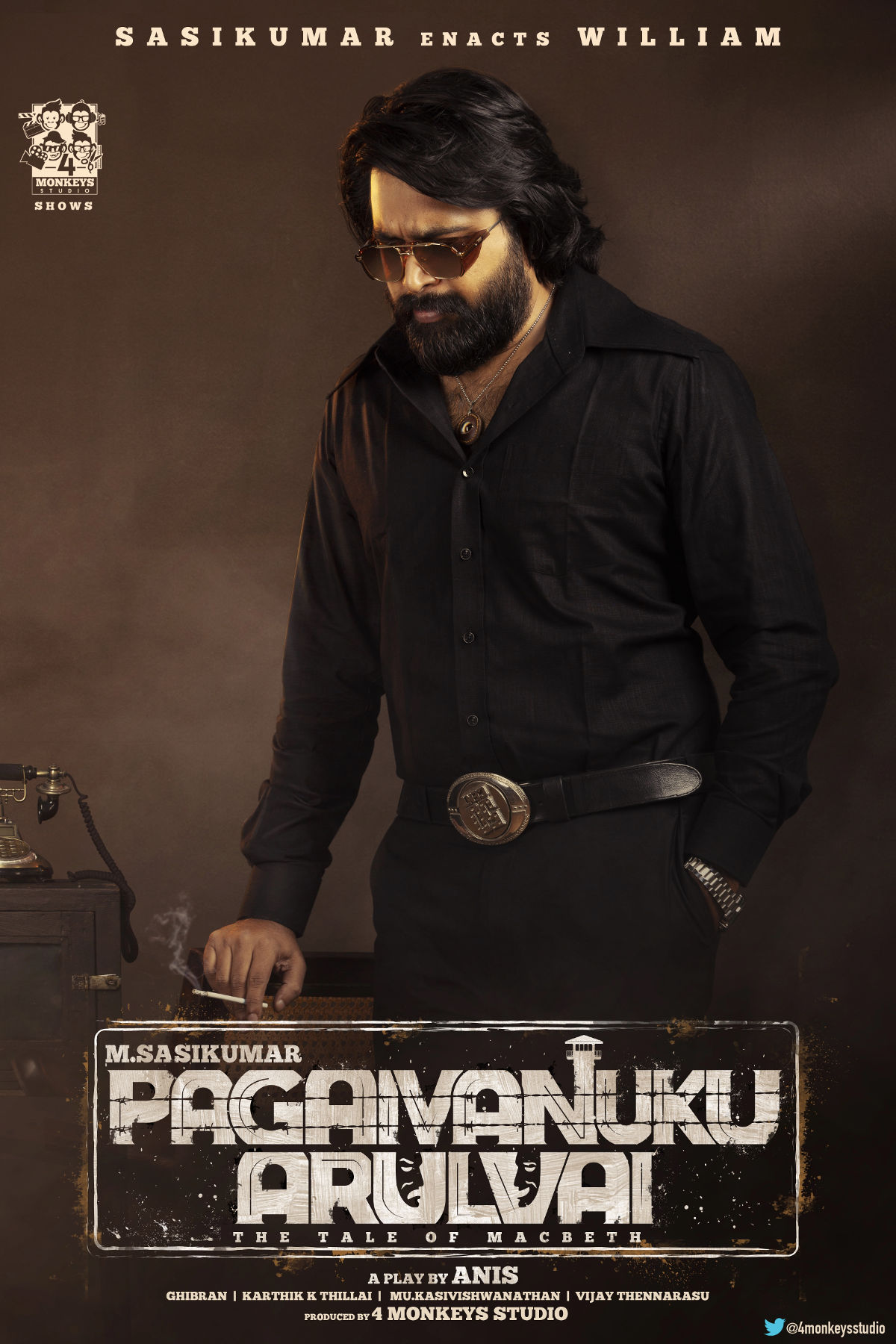 Hero Sasikumar Pagaivanuku Arulvai Movie First Look Poster HD