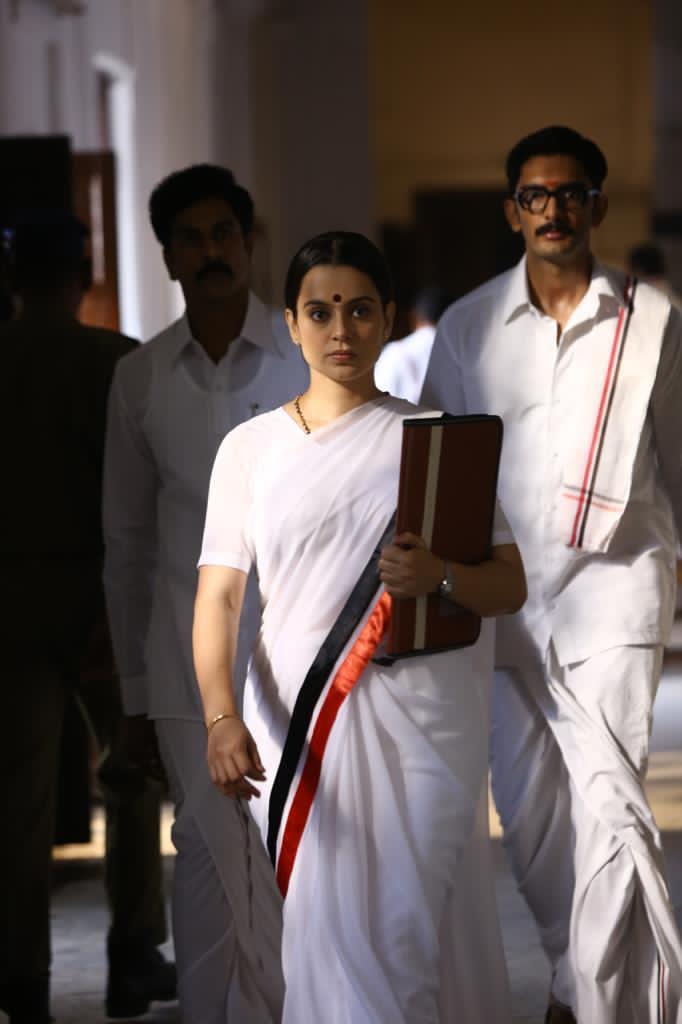 Heroine Kangana Ranaut Thalaivi Working Stills