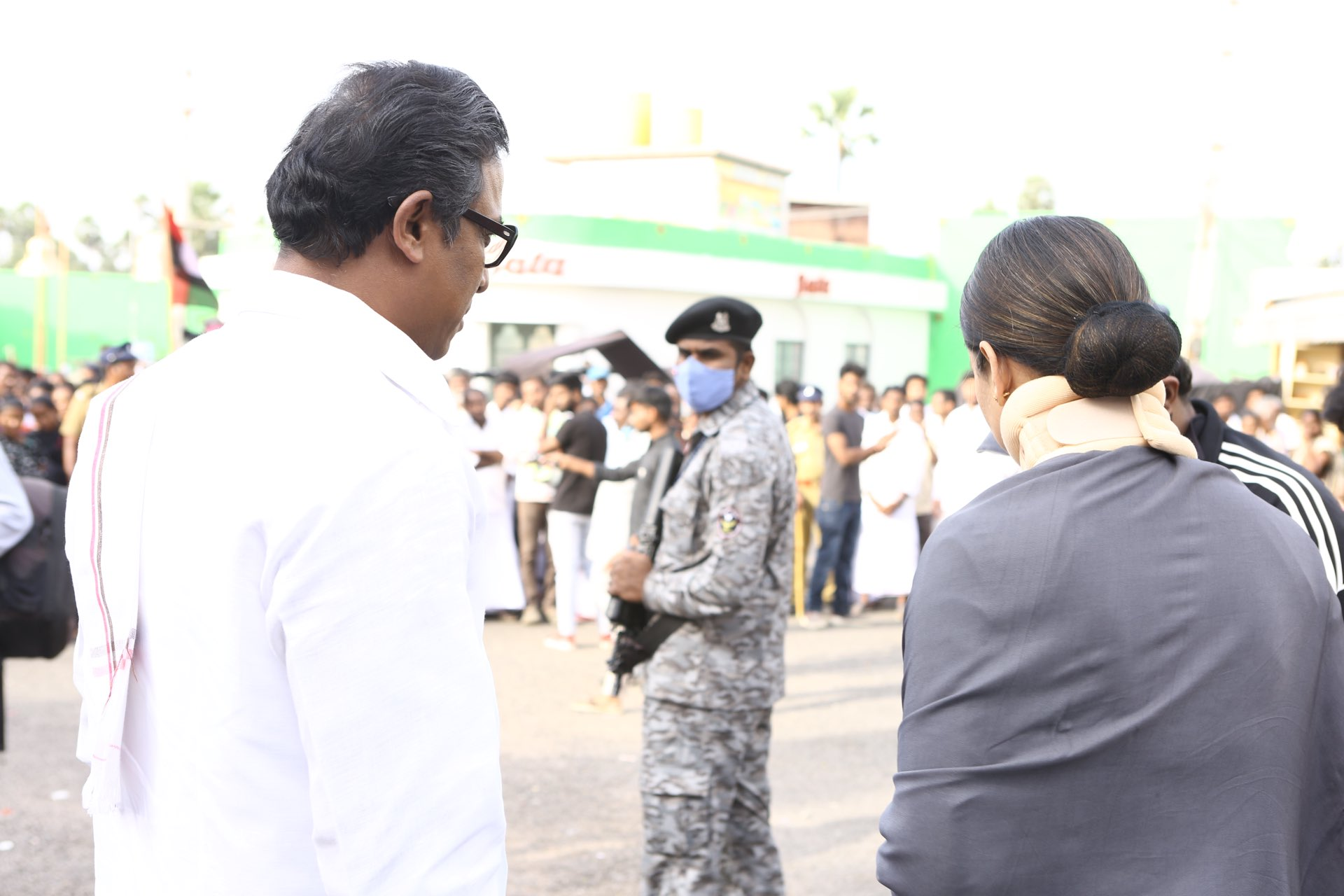 Heroine Kangana Ranaut as J Jayalalitha @ Thalaivi Movie Working Stills