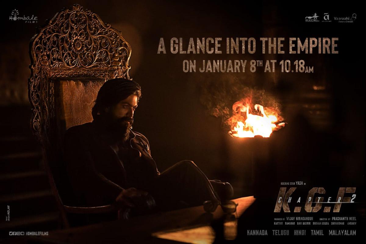 KGF Chapter 2 teaser release poster