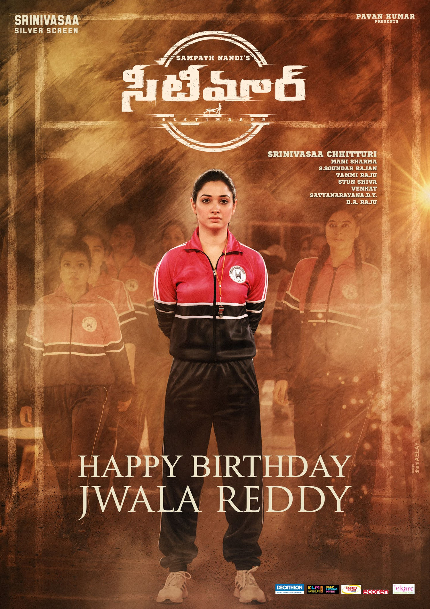 Seetimaarr Movie Team wishes to Tamannaah Birthday Poster