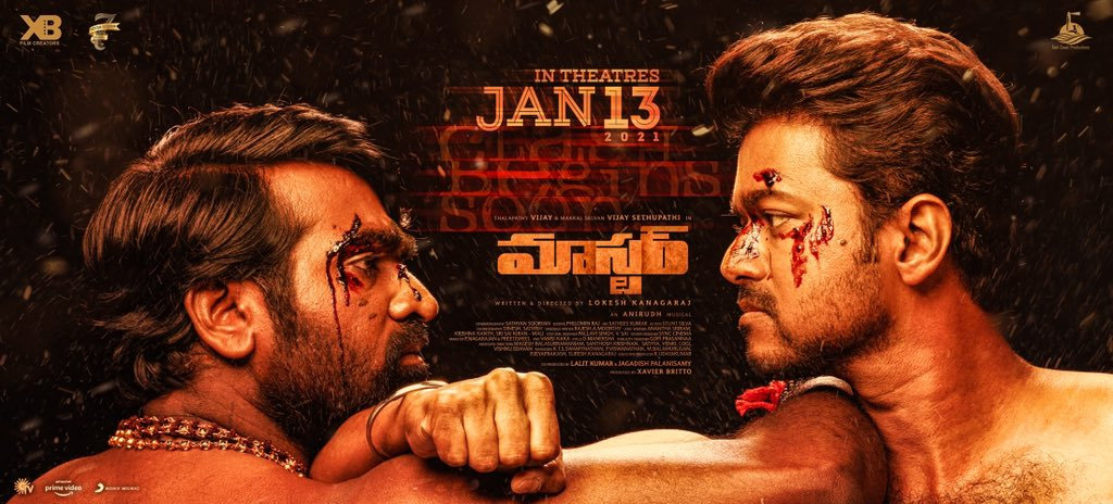 Vijay Sethupathi Vijay Master Release Date Jan 13th Poster