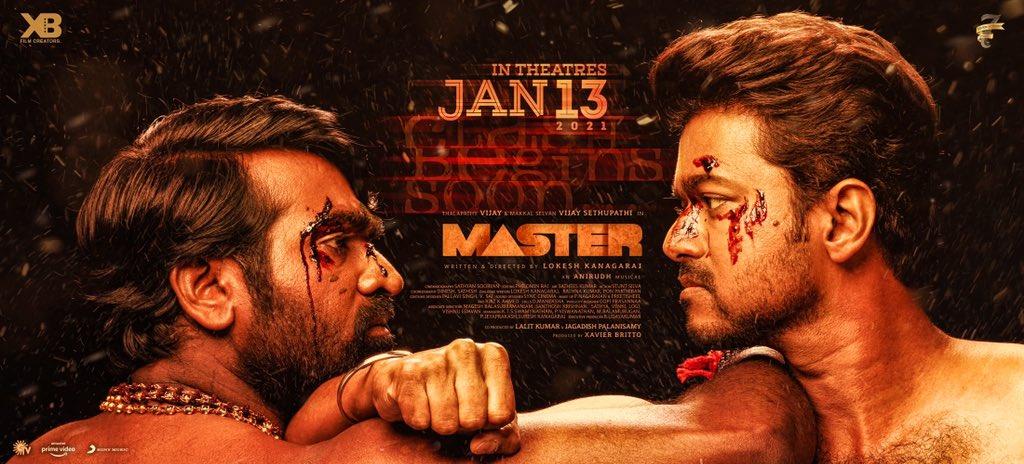 Vijay Sethupathi Vijay Master Release Date on Jan 13th Poster