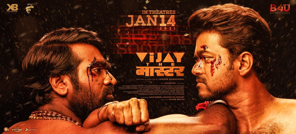 Vijay Sethupathi Vijay the Master Movie Release Date Jan 14th Poster