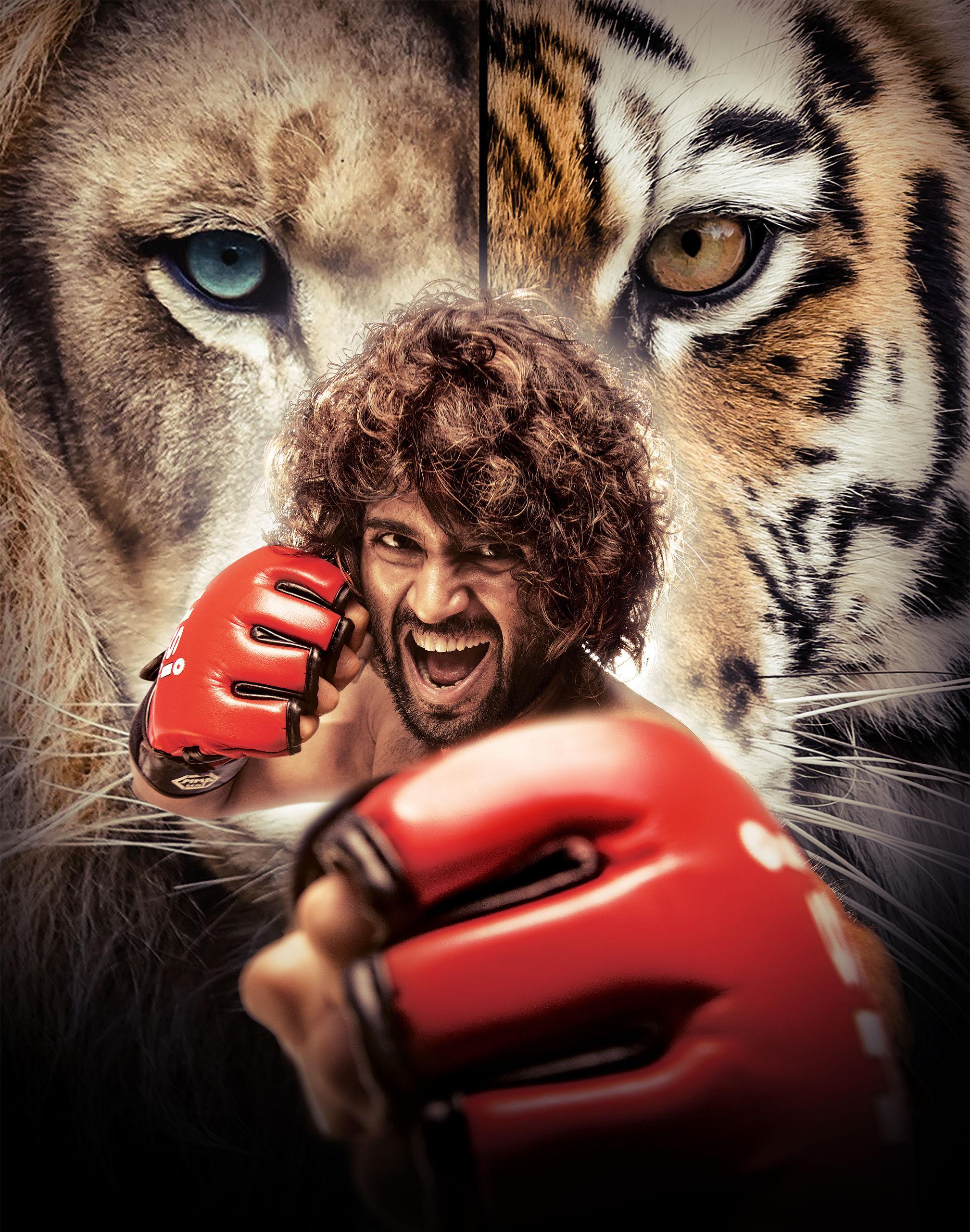 Actor Vijay Deverakonda LIGER Saala Crossbreed HD IMages