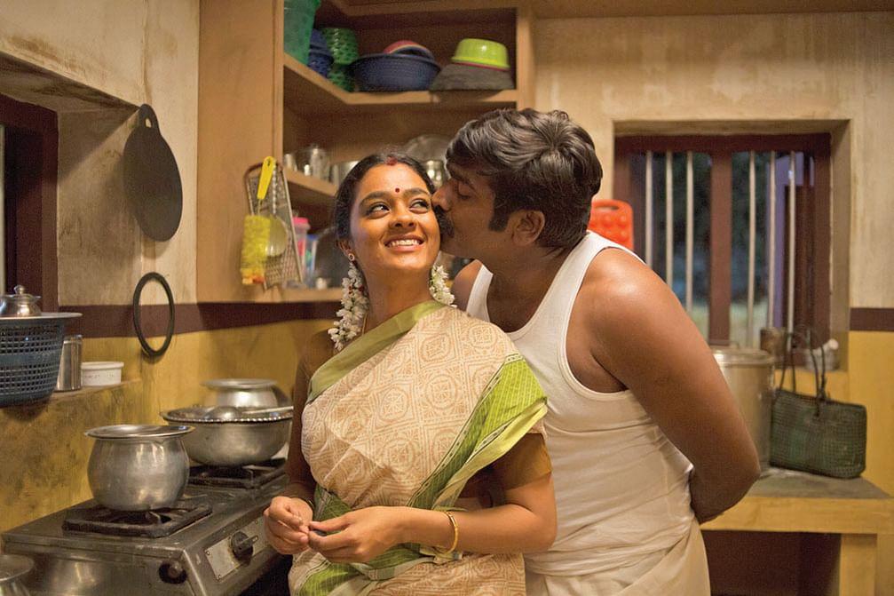 Gayathrie, Vijay Sethupathi in Maamanithan Movie Stills