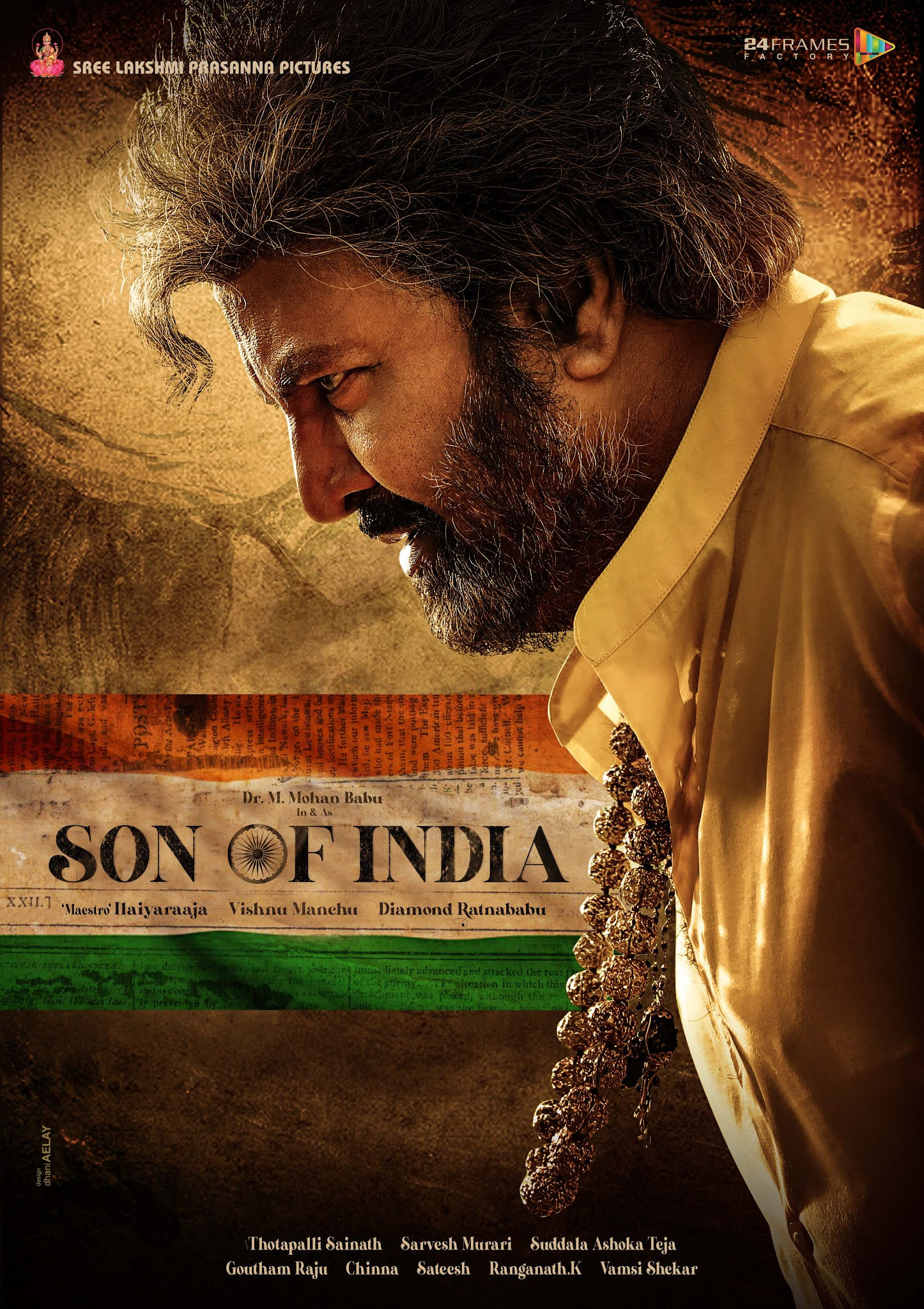 Mohan Babu Son of India Movie First Look Poster HD