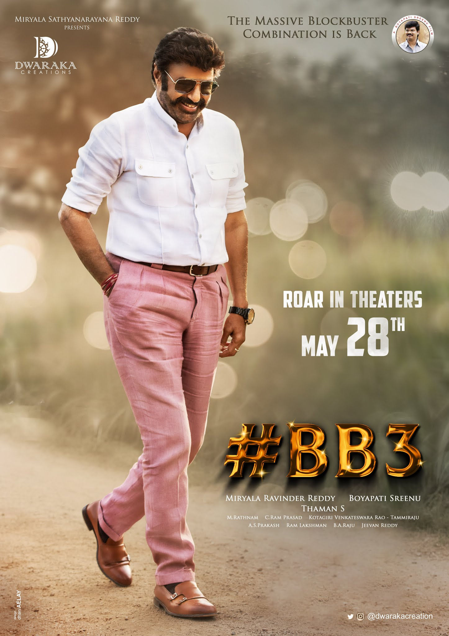 Nandamuri Balakrishna Boyapati Srinu BB3 Movie Release Date May 28th
