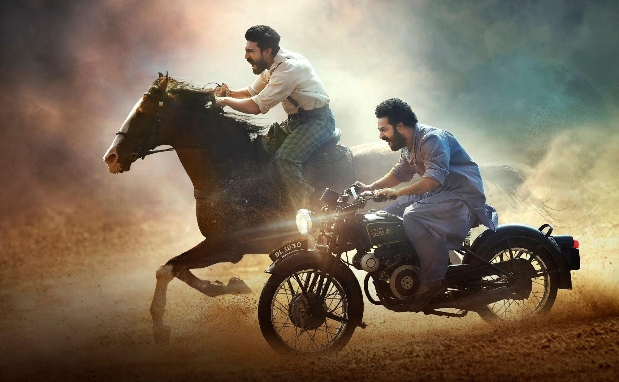 Ram Charan NTR RRR Movie Dussehra Worldwide release on October 13, 2021