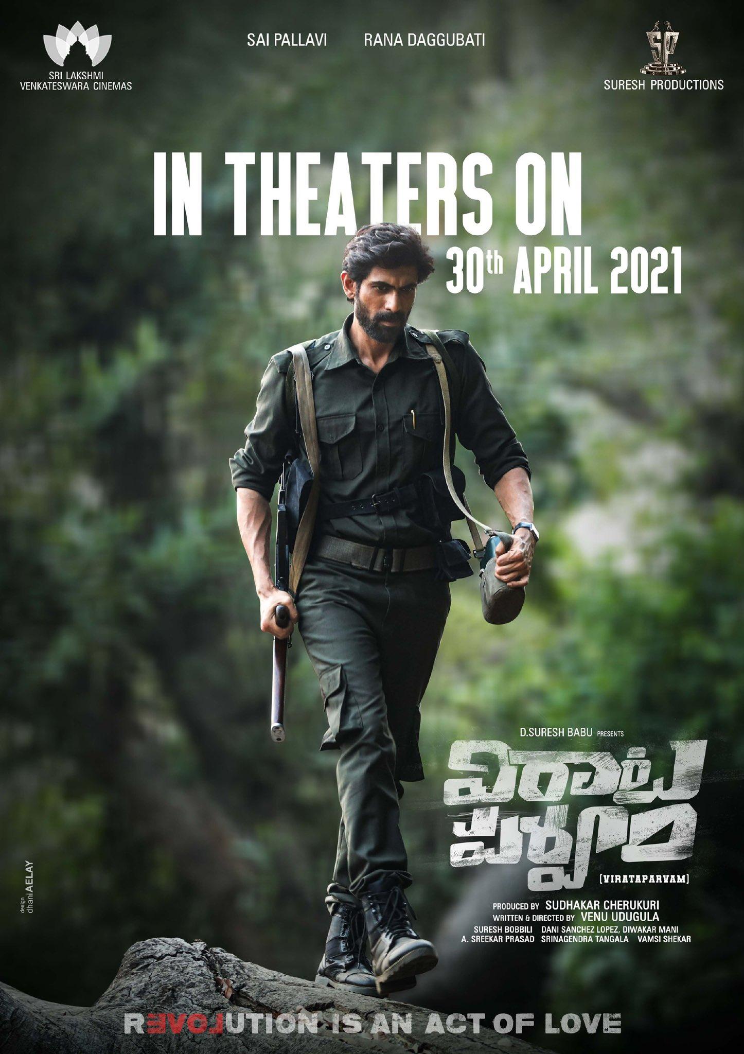 Rana Daggubati Virata Parvam Movie Releasing April 30th