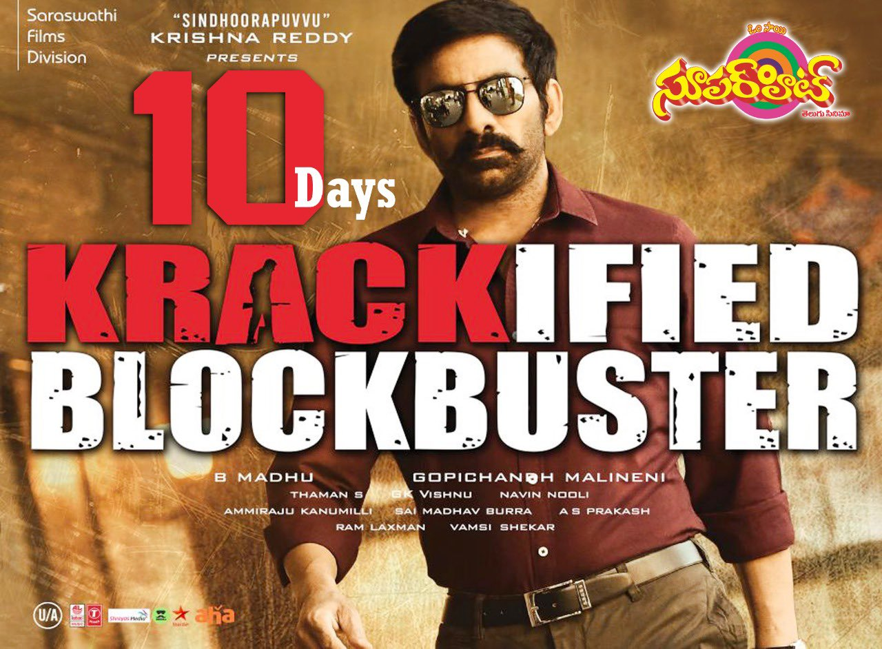 Ravi Teja Krack Movie 10 Days Posters