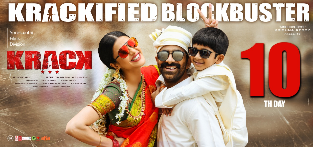 Shruti Haasan, Ravi Teja in Krack Movie Krackified Blockbuster Posters