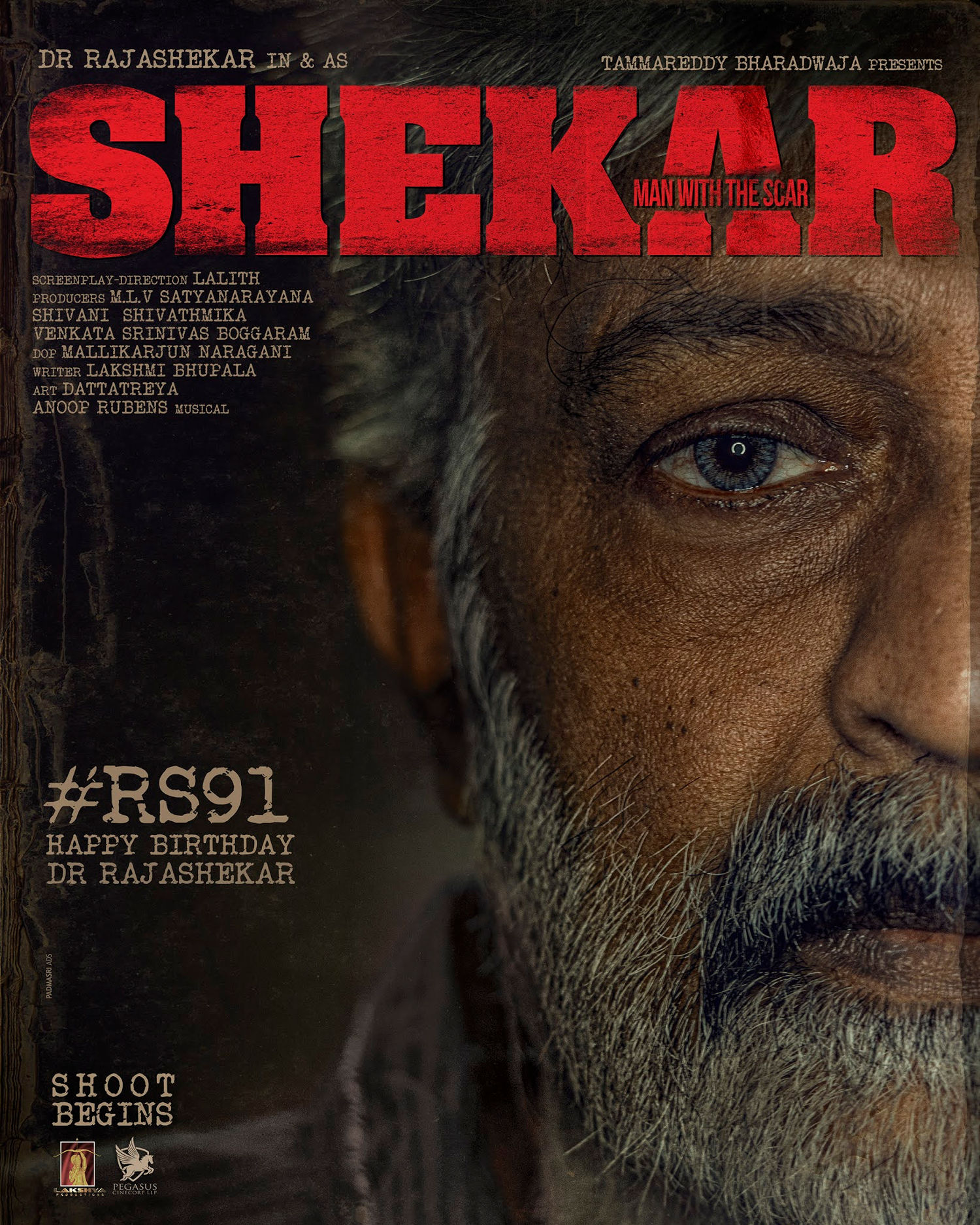 Dr Rajasekhar Shekar Movie First Look Poster HD