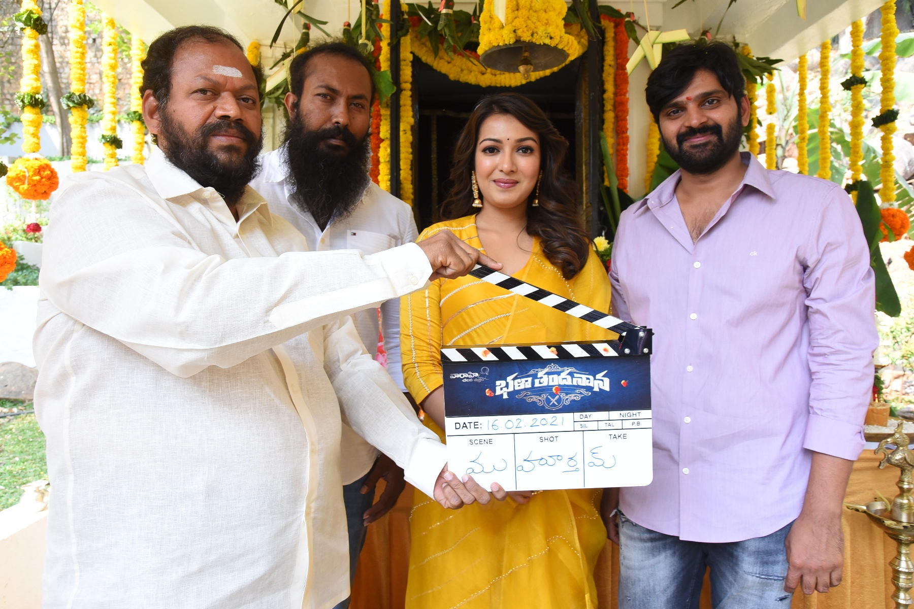 Ramachandra Raju @ Catherine Tresa Sree Vishnu Bhala Thandanana movie launch