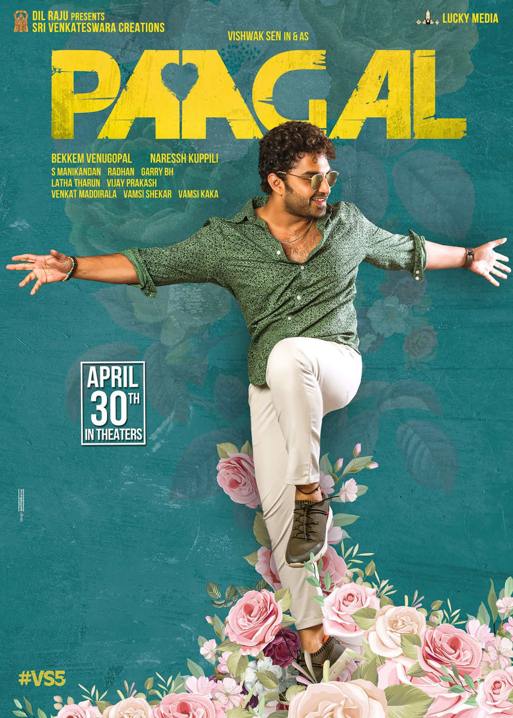 Vishwak Sen Paagal First Look Out Film To Release On April 30