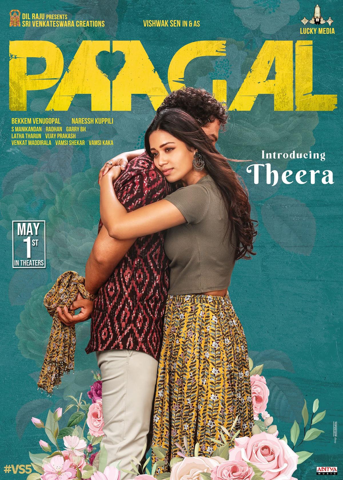 Introducing Nivetha Pethuraj As Theera In Vishwak Sen Paagal Movie Poster