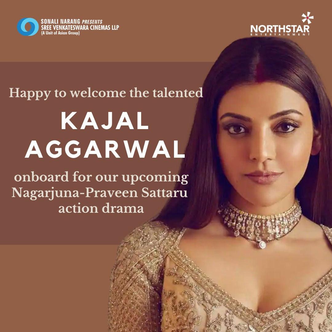 Nagarjuna Big Action Entertainer To Have Kajal Aggarwal As Heroine Directed By Praveen Sattaru