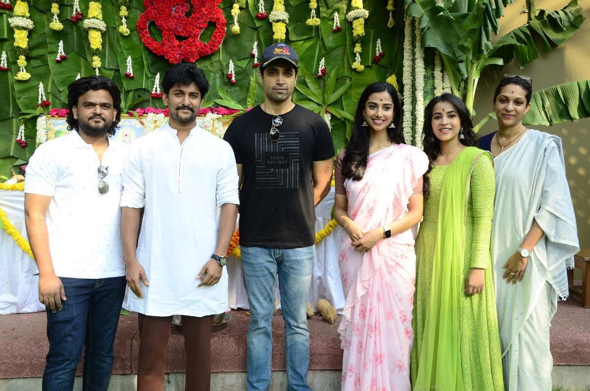 Nani Wall Poster Cinema Adivi Sesh HIT 2 Movie Launched