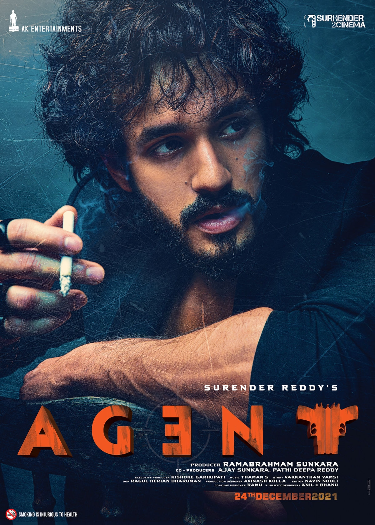 Akhil Akkineni AGENT Movie First Look Poster HD
