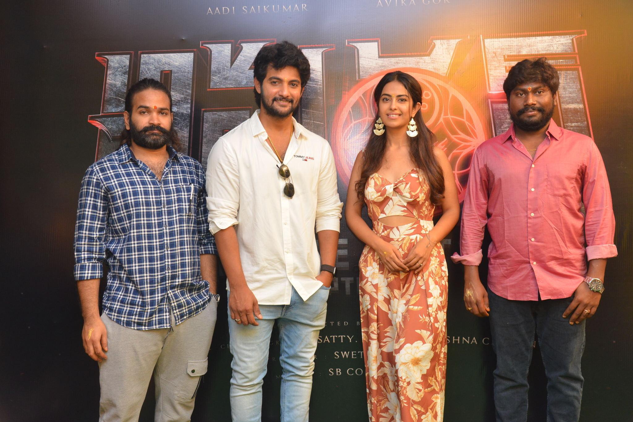 Aadi Saikumar Avika Gor @ Amaran In The City - Chapter 1 Movie Launch Stills