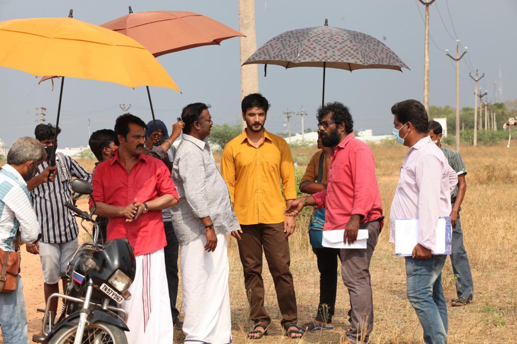 Gautham Karthik and Cheran starring Anandham Vilayadum Veedu second schedule in full swing