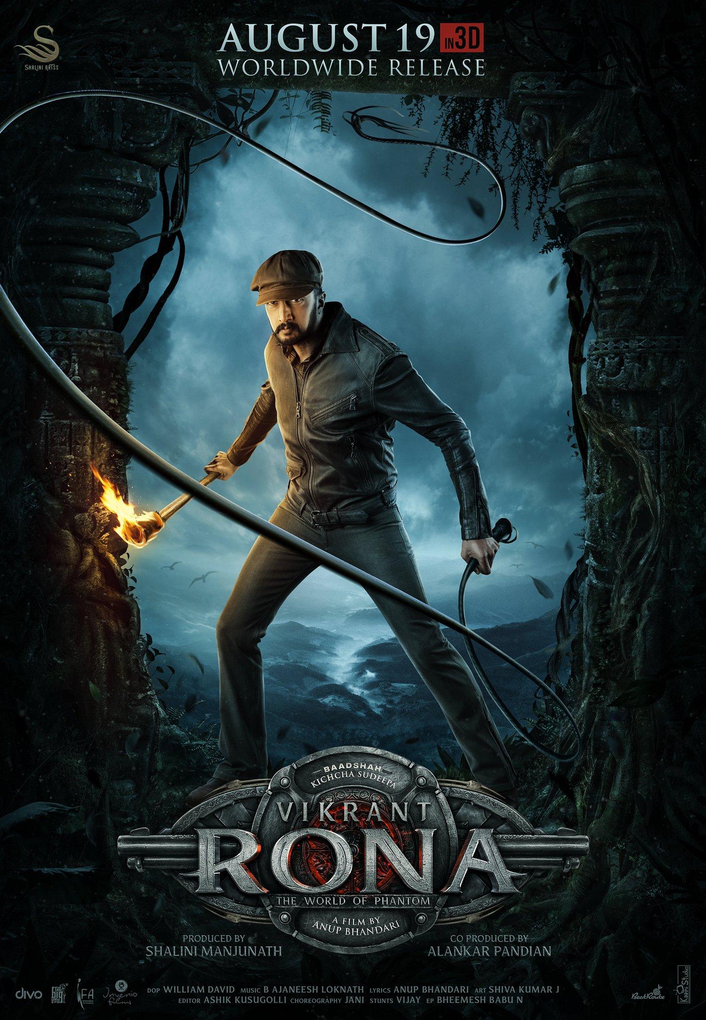 Kichcha Sudeepa Vikrant Rona First Look Poster HD