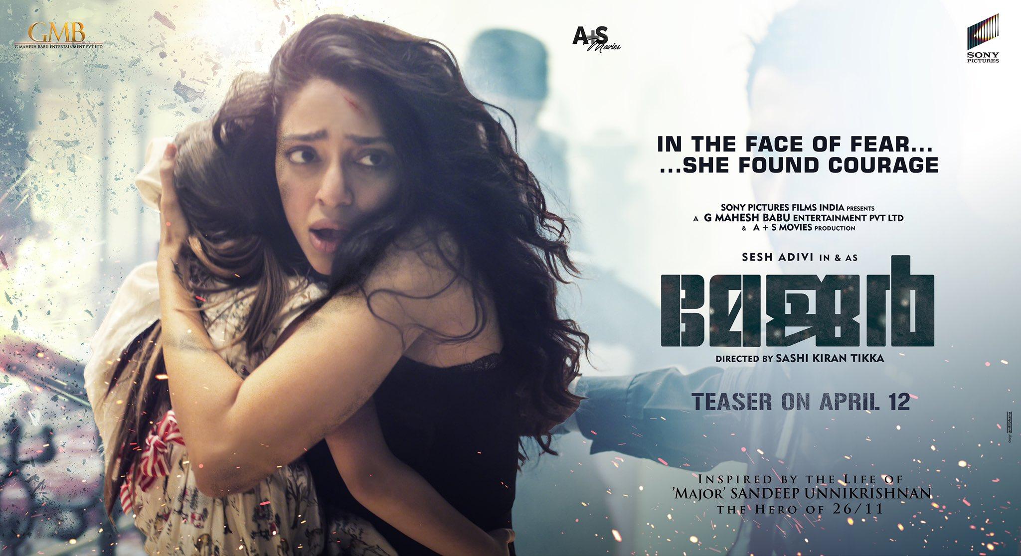Major Movie Sobhita Dhulipala as the NRI hostage HD Posters