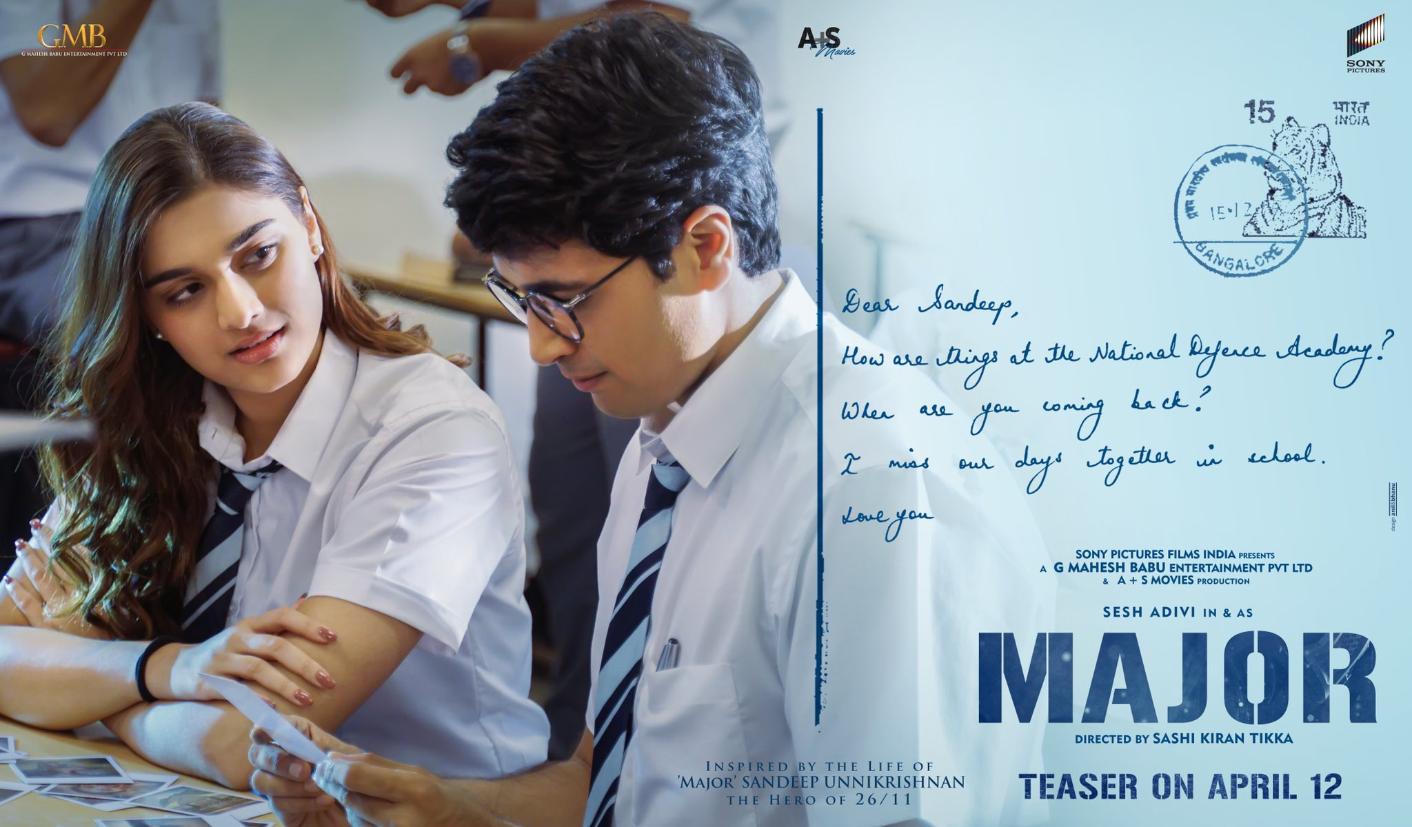 Saiee Manjrekar & Adivi Sesh @ Major Movie Teaser On April 12th Poster HD