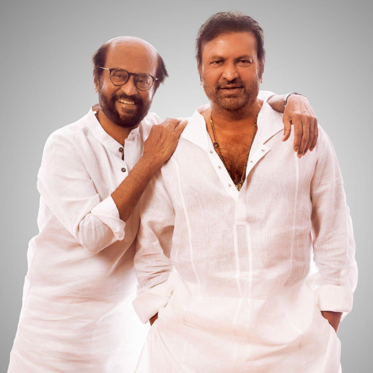 Rajinikanth meets Mohan Babu