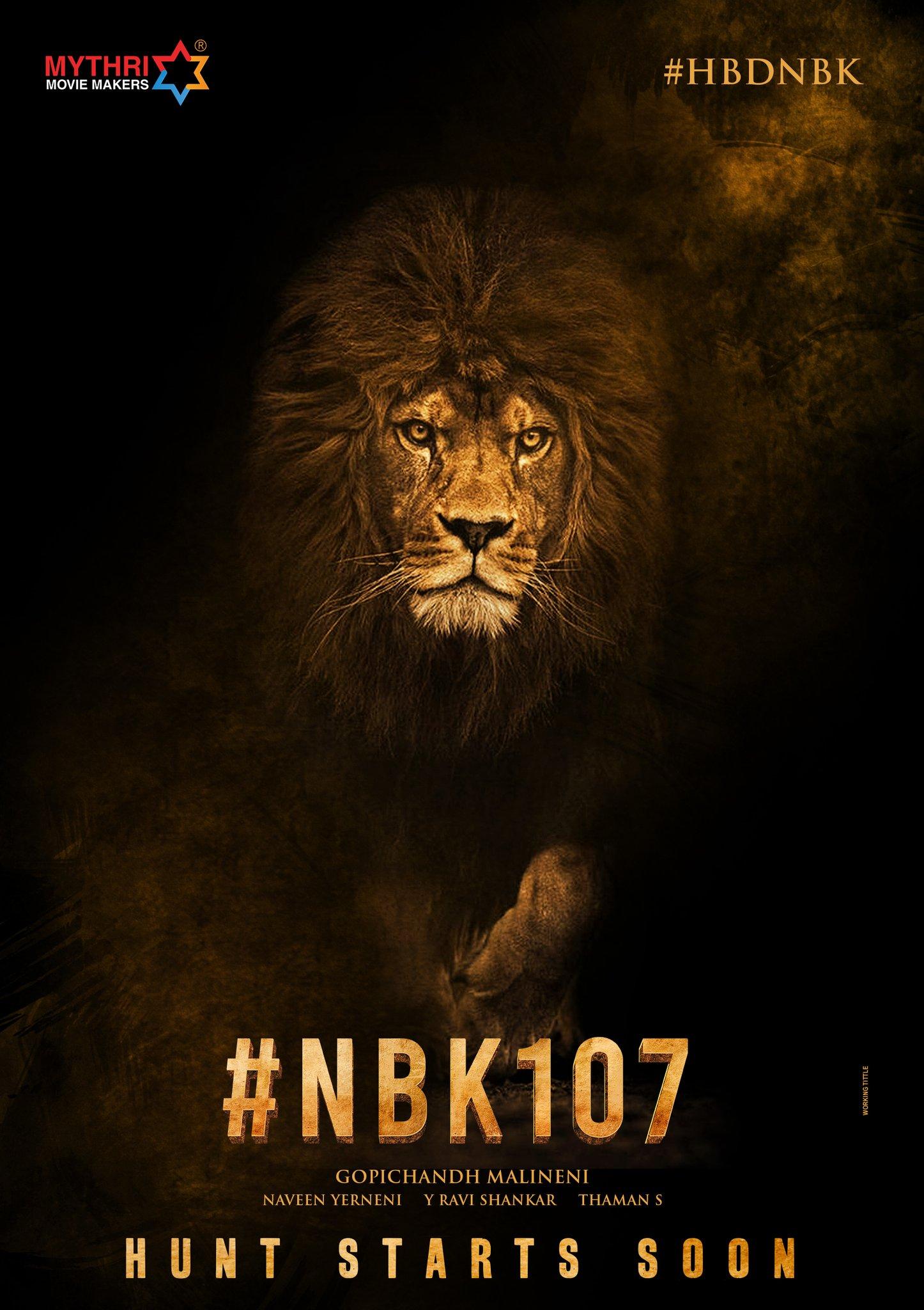 Nandamuri Balakrishna Gopichand Malineni NBK107 Starts Soon