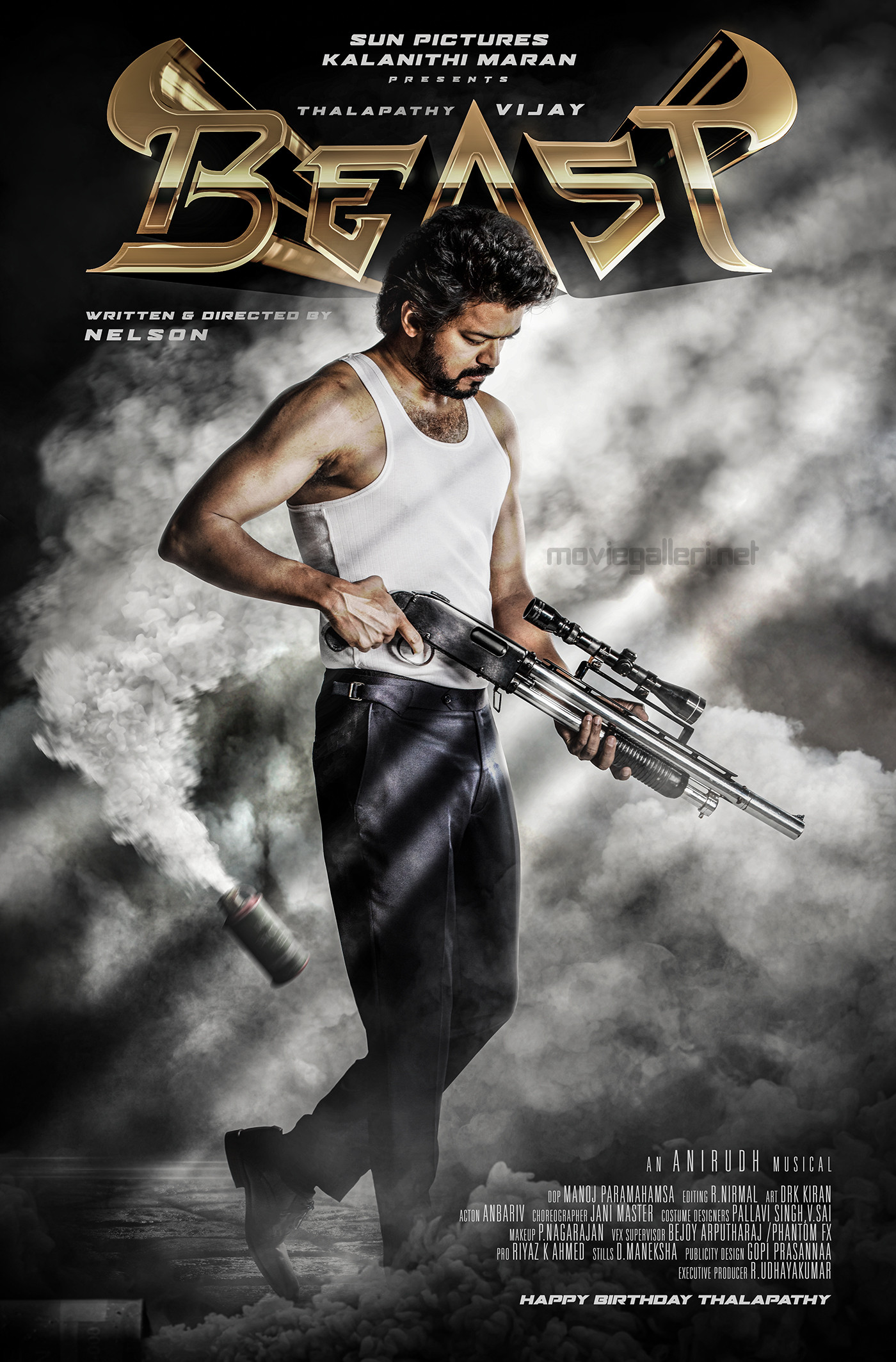Thalapathy 65 Vijay BEAST Movie First Look Poster HD